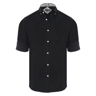 Fashion 4 Men - Tarocash Elliott Linen Blend Shirt Black L