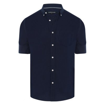 Fashion 4 Men - Tarocash Elliott Linen Blend Shirt Navy M