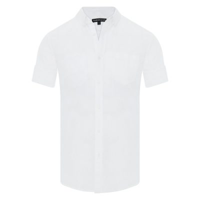 Fashion 4 Men - Tarocash Elliott Linen Blend Shirt White 4 Xl
