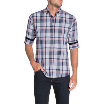 Fashion 4 Men - Tarocash Essential Check Shirt Blue Xxxl