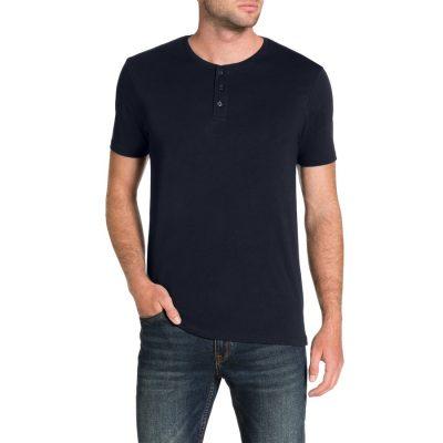 Fashion 4 Men - Tarocash Essential Henley Tee Navy L
