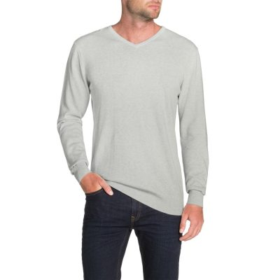 Fashion 4 Men - Tarocash Essential V Neck Knit Ice 4 Xl