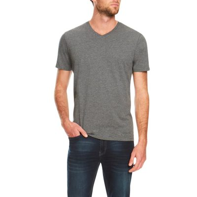 Fashion 4 Men - Tarocash Essential V Neck Tee Charcoal Marle 5 Xl