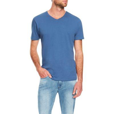Fashion 4 Men - Tarocash Essential V Neck Tee Cornflower S
