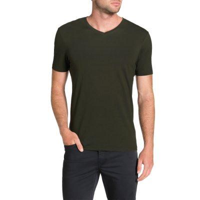 Fashion 4 Men - Tarocash Essential V Neck Tee Forest Xl