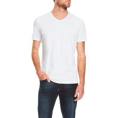 Fashion 4 Men - Tarocash Essential V Neck Tee Grey Marle Xxl