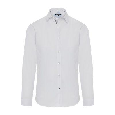 Fashion 4 Men - Tarocash Ford Slim Textured Shirt White S
