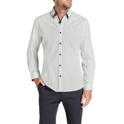 Fashion 4 Men - Tarocash Hail Spot Shirt White Xl