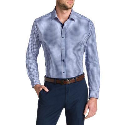 Fashion 4 Men - Tarocash Havana Slim Check Stretch Shirt Lilac Xs