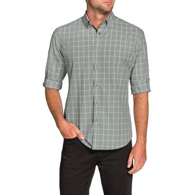 Fashion 4 Men - Tarocash Howser Check Shirt Silver Xxxl