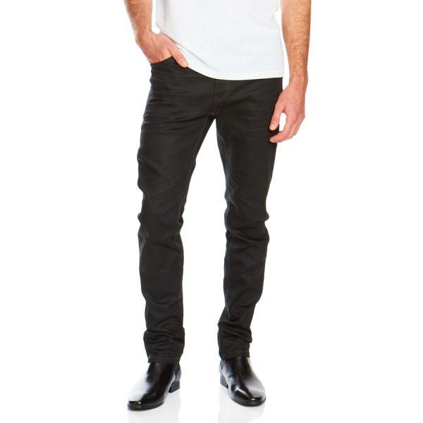 Fashion 4 Men - Tarocash Hutchence Coated Regular Jean Black 34