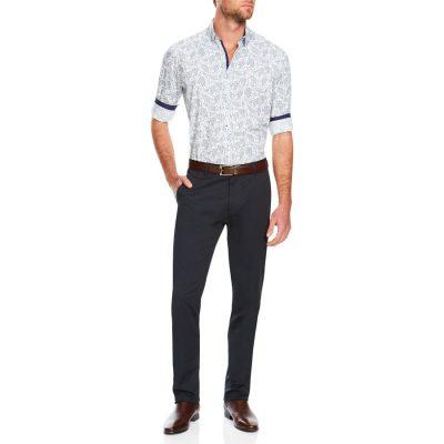 Fashion 4 Men - Tarocash James Paisley Print Shirt White Xxl