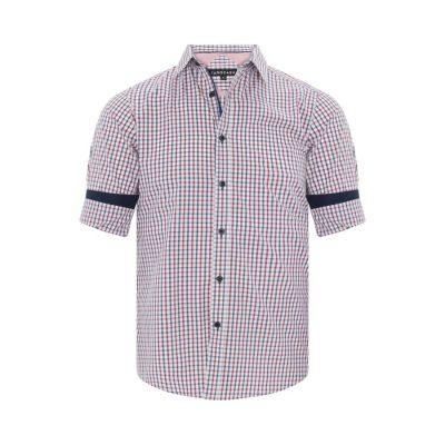 Fashion 4 Men - Tarocash Kenneth Check Shirt Musk Xxxl