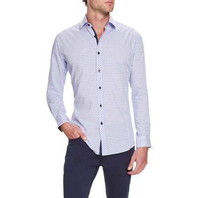 Fashion 4 Men - Tarocash Kent Check Shirt Lilac Xxl
