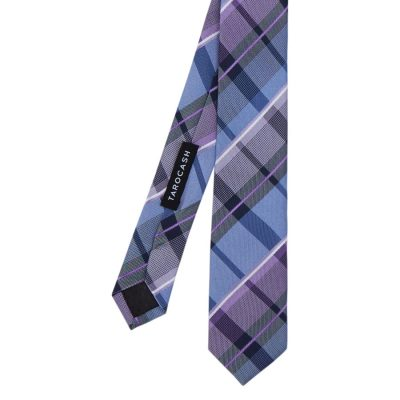 Fashion 4 Men - Tarocash Large Check Tie Lilac 1