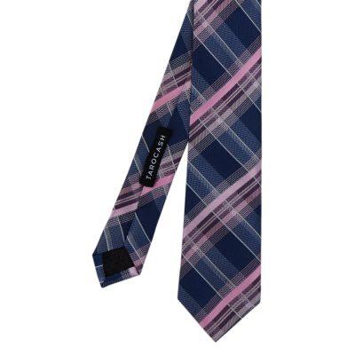 Fashion 4 Men - Tarocash Large Check Tie Pink 1
