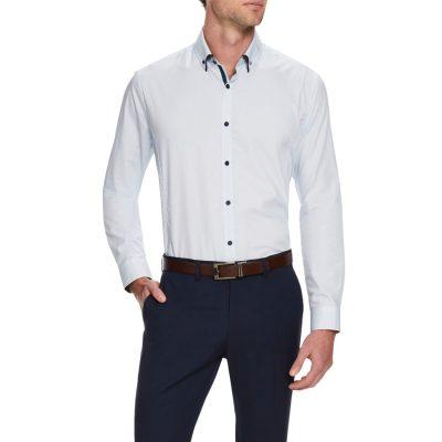 Fashion 4 Men - Tarocash Massi Print Shirt Aqua M