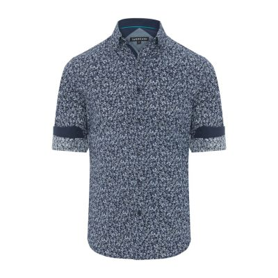 Fashion 4 Men - Tarocash Maurice Floral Print Shirt Navy S