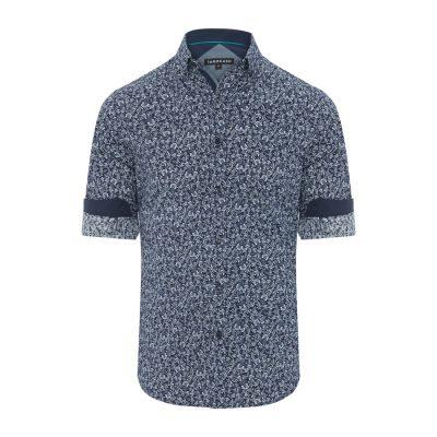 Fashion 4 Men - Tarocash Maurice Floral Print Shirt Navy Xxl