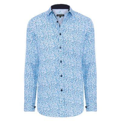 Fashion 4 Men - Tarocash Merrick Floral Print Shirt Blue 5 Xl