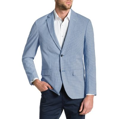 Fashion 4 Men - Tarocash Mini Check Blazer Blue Xl