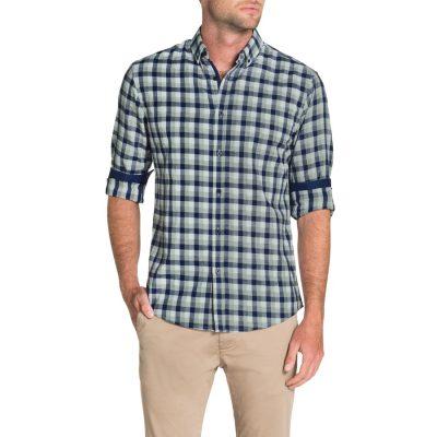Fashion 4 Men - Tarocash Mitcham Check Shirt Blue L