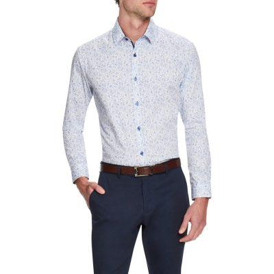 Fashion 4 Men - Tarocash Monet Slim Shirt Sky Xs