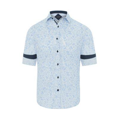 Fashion 4 Men - Tarocash Morrison Paisley Print Shirt Sky Xl