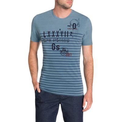 Fashion 4 Men - Tarocash Nautical Tee Teal Xxxl