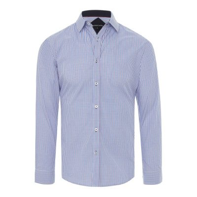 Fashion 4 Men - Tarocash Nelson Check Shirt Blue L