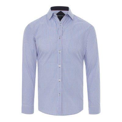 Fashion 4 Men - Tarocash Nelson Check Shirt Blue Xxl