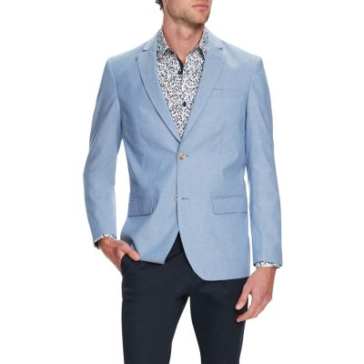 Fashion 4 Men - Tarocash Oasis Cotton Blazer Blue Xs