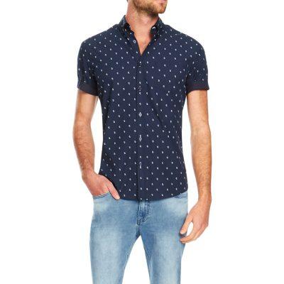Fashion 4 Men - Tarocash Panang Paisley Print Shirt Navy M