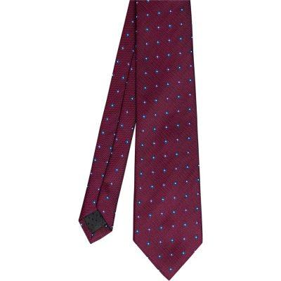 Fashion 4 Men - Tarocash Pattern Tie Pattern Tie Burg1 1