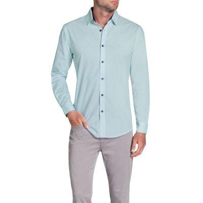 Fashion 4 Men - Tarocash Percy Print Shirt Blue Xl