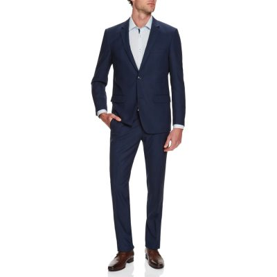 Fashion 4 Men - Tarocash President Check 2 Button Suit Royal 40