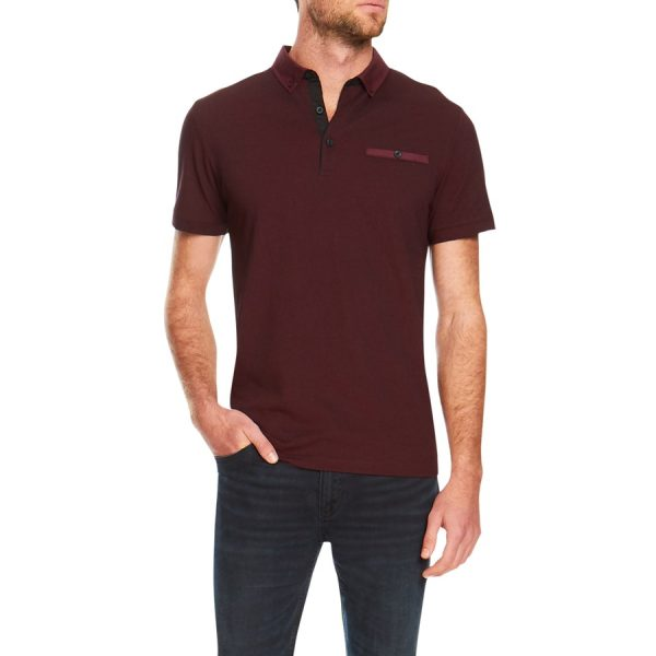 Fashion 4 Men - Tarocash Ralph Pique Polo Burgundy L