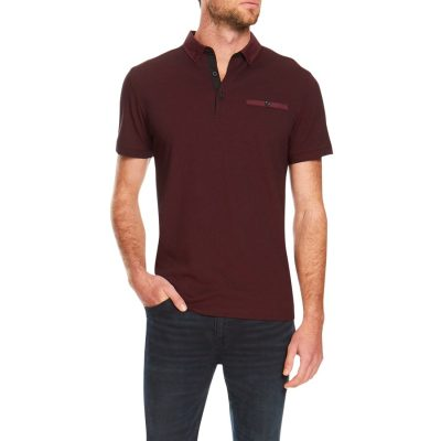 Fashion 4 Men - Tarocash Ralph Pique Polo Burgundy M