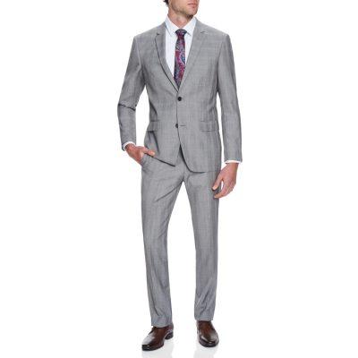 Fashion 4 Men - Tarocash Reserve Check 2 Button Suit Grey 44
