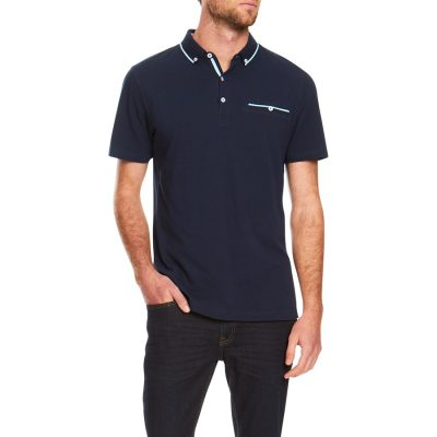 Fashion 4 Men - Tarocash Rory Pique Polo Navy Xxl