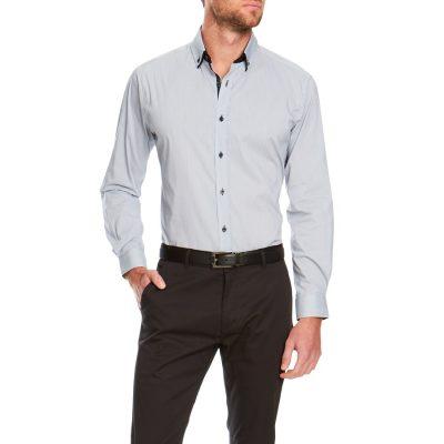 Fashion 4 Men - Tarocash Silverado Stretch Shirt Grey S