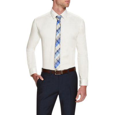 Fashion 4 Men - Tarocash Slim Occasion Shirt Ivory 5 Xl