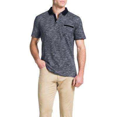 Fashion 4 Men - Tarocash Slub Stripe Polo Navy L