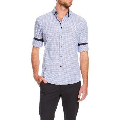 Fashion 4 Men - Tarocash Smithson Slim Check Shirt Lilac M