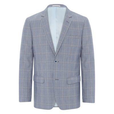 Fashion 4 Men - Tarocash Tequila Check Blazer Blue S
