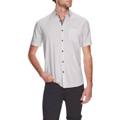 Fashion 4 Men - Tarocash Trent Print Shirt Pink Xxl
