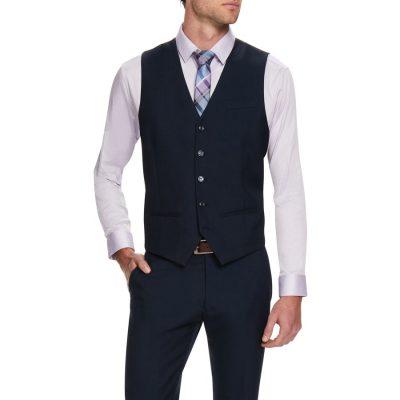 Fashion 4 Men - Tarocash Truman Waistcoat Navy L