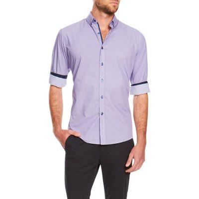 Fashion 4 Men - Tarocash Vander Print Shirt Lilac S