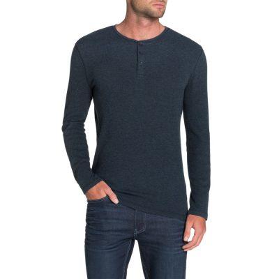 Fashion 4 Men - Tarocash Walker Henley Tee Denim L