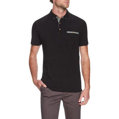 Fashion 4 Men - Tarocash Woods Pique Polo Black L